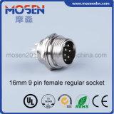 Tipo conector regular femenino del Pin 16m m (DF16B/M16B) de Gx16-9-B 9 de la aviación del socket