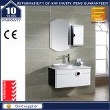 Gabinete sanitário da vaidade do banheiro da madeira contínua dos mercadorias com gabinete lateral