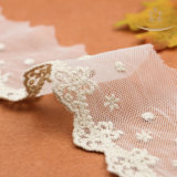 Testo fisso solubile in acqua 100% del merletto del tessuto del merletto del cotone di modo L30015