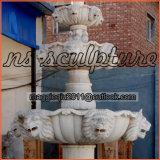 屋外の庭Mf1704のための安いライオンヘッド石水噴水