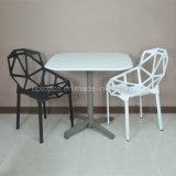 (SP-AT380A) haut de plastique blanc Patio en plein air Table à manger de pliage