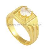 스테인리스 18k 금에 의하여 도금되는 다이아몬드 반지 주물 보석