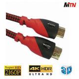 Cabo de HDMI 2.0, Ethernet das sustentações, 3D, 4K@60p, arco e 2160p