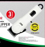 Tosquiadeira de cabelo recarregável sem corda com indicador da vida da bateria de Digitas