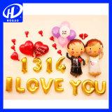 im auf lager heißen Verkaufs-Hochzeits-und Partei-Dekoration-Puppe-Form-Latex-Helium-Ballon