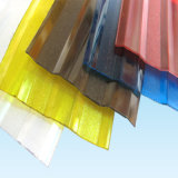Panneaux ondulés de toit de plastique transparent de GE Lexan avec enduit UV pour la serre chaude