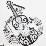 Reloj de pared del estilo del arte del violín de la música para la decoración