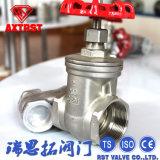 Válvula de Gaveta de Aço Inoxidável industrial com a extremidade rosqueada