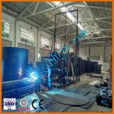 Máquina para el reciclaje de residuos de aceite de motor de aceite de coche de la planta de regeneración de aceite del motor