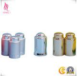 Casquillos de aluminio del metal con el diseño Shaped para la botella de cristal blanca del tarro y del plástico