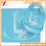 土のシリコーンの赤ん坊のエプロン(YB-HR-135)に対して容易できれいな抵抗力がある