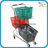 일본식 슈퍼마켓 3 바구니 쇼핑 카트, 쇼핑 트롤리,