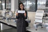 China automatizó la máquina del bordado de la ropa del casquillo de la aguja de la pista 15 de la máquina 1 del bordado