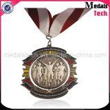 Medallas baratas del trote de Turquía del metal de encargo de bronce antiguo