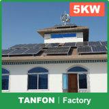 Sistema de energia solar gama alta do projeto 6kw 8kw 10kw para a sustentação da HOME e da instalação
