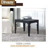 Canapé en acier inoxydable en bois de style nordique et table de chevet en bois
