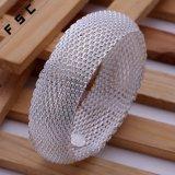 Mode Eenvoudige 925 Zilveren Netto Brede Bracelet voor Meisje