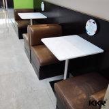 의자를 가진 인공적인 돌 식사 가구 작은 둥근 돌 커피용 탁자