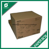 Flöte gewellter Archiv Storge Verschiffen-Karton-Kasten mit kundenspezifischem Drucken sein