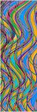 Couvre-tapis de yoga estampé par dessin magique de piste pour le couvre-tapis de Pilate de méditation