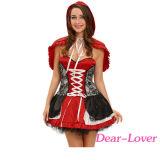 菓子少し赤い乗馬フードの衣裳の服