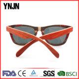 Объективов зеркала Ynjn солнечные очки относящих к окружающей среде изготовленный на заказ деревянные