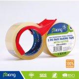 Fibra de embalagem adesiva OPP Transparente de força forte com dispensador