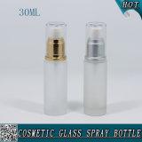 bottiglia di profumo cosmetica riutilizzabile di vetro glassato 30ml con lo spruzzatore della foschia