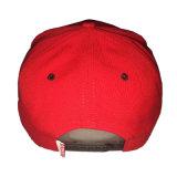 Casquillo rojo de encargo del Snapback del bordado de la impresión de algodón