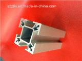 6063 a anodisé le profil encoché parextrusion en aluminium argentée