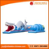 2018 en forma de tiburón inflable túnel para juegos (T5-001)