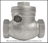 Válvula de verificación de oscilación 316 del acero inoxidable 304 200 PSI (EXTRANJERO)