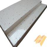 Azulejos de techo suspendido de fibra mineral Acústica (603 * 603mm)
