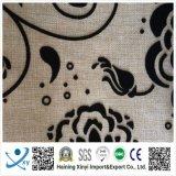 Poliéster flocado tela de tafetán, tafetán PVC con revestimiento impermeable, 190T tafetán brillante PU