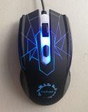 Rato prendido USB ótico do jogo mutável colorido