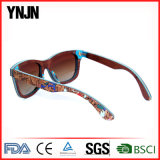 Lunettes de soleil en bois de liège polarisées par mode neuve avec la FDA (YJ-RM003)