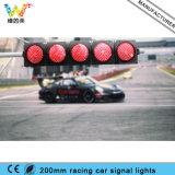 luz de sinal do controlador da trilha de competência do carro de 200mm