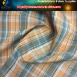 上着類のためのポリエステルかナイロン混ぜられたヤーンによって染められる小切手ファブリック
