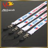 El acollador tejido de la insignia de la escritura de la etiqueta del clip de dogo de la promoción crea para requisitos particulares impreso