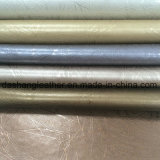 Fabricante de couro sintético do PVC de Upholstery metálico da forma