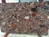 Carrelage en pierre de marbre coloré employé couramment de Riverstones de vente chaude