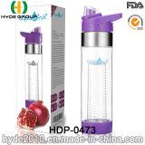 2017 최신 판매 BPA는 해방한다 Tritan 과일 주입 병, 새로 플라스틱 과일 Infuser 물병 (HDP-0473)를