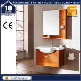 Vanidad de madera montada en la pared de la cabina de cuarto de baño del MDF de la alta calidad