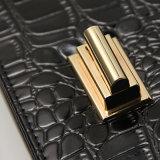 악어 곡물 PU 회전하는 버클 검정 어깨에 매는 가방 (A014)