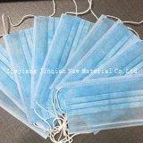 Azul e branco 9 ~ 10g PP tecido não tecido para máscara facial médica