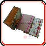 Dobrador expansível dos artigos de papelaria feitos sob encomenda com fechamento elástico
