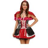 Bonbon Rotkäppchen-Kostüm-Kleid