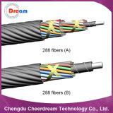Câble micro de fibre optique de toronnage de couche de 288 faisceaux pour Microduct
