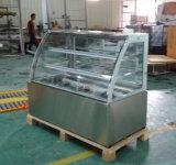 3 van de Cake lagen van het Kabinet van de Vertoning met de Basis van het Roestvrij staal (KI730A-S2)