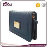 Mini borsa della moneta, piccolo cuoio dell'unità di elaborazione del raccoglitore della chiusura lampo di colore blu